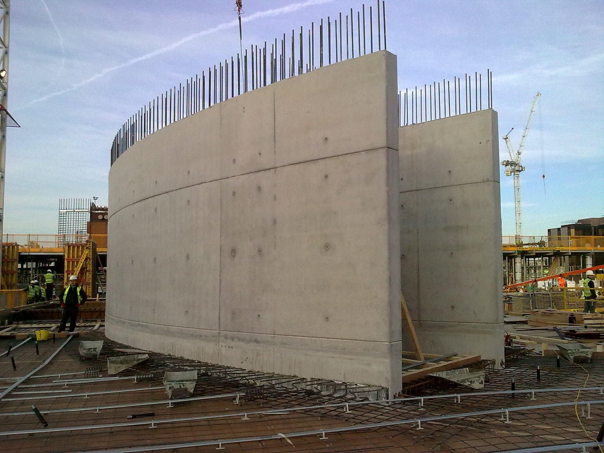 Brent civic centre steel walls